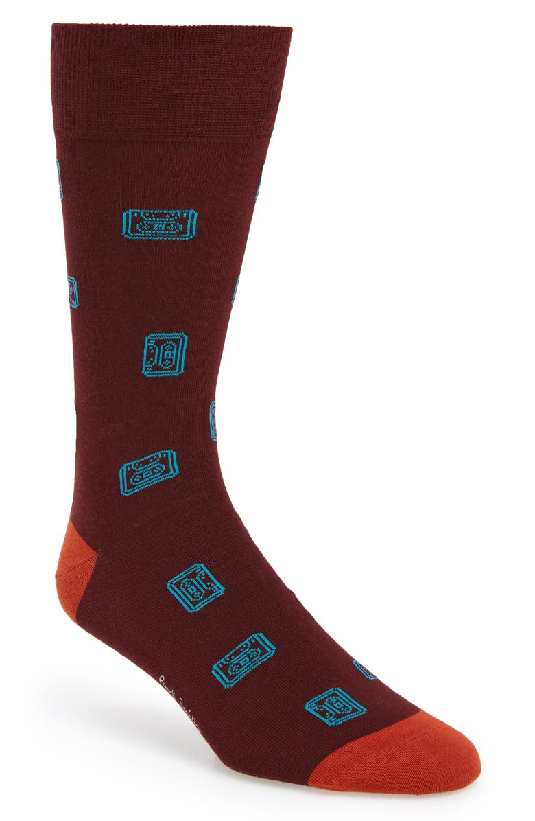 PAUL SMITH Objects Socks, Main, color, BLACK MULTI