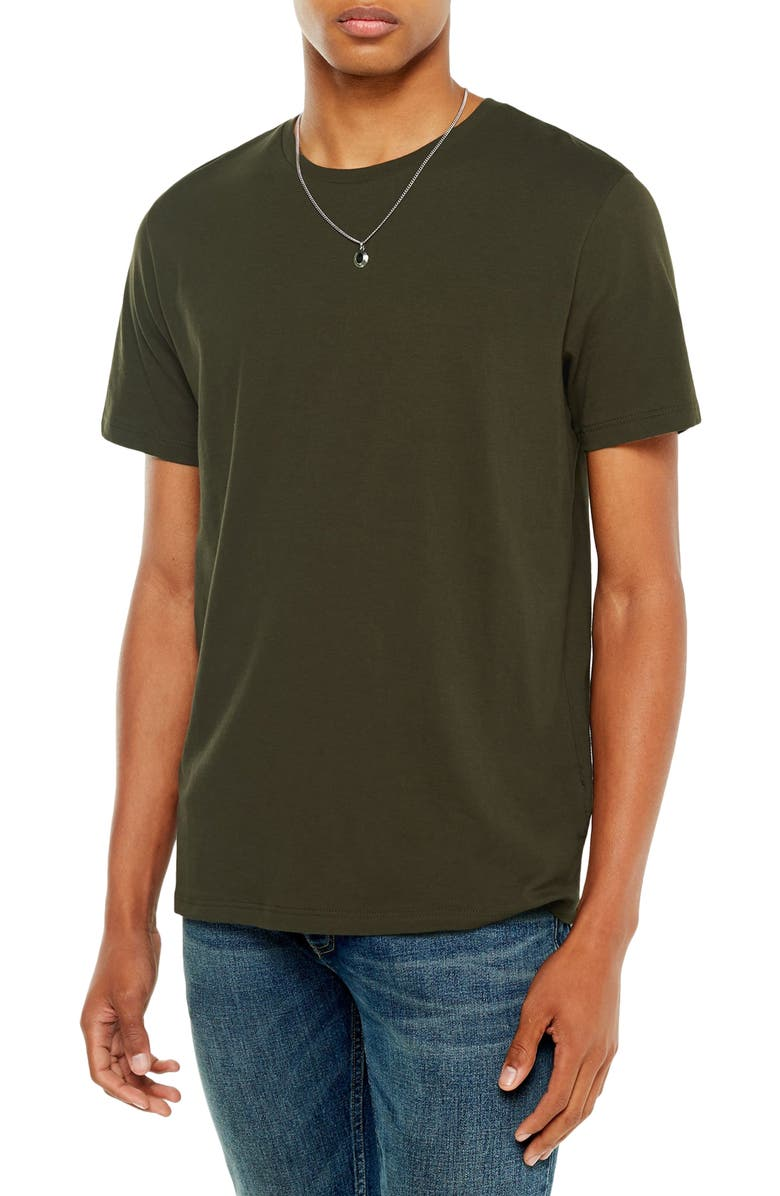 TOPMAN Classic Fit T-Shirt, Main, color, FOREST GREEN