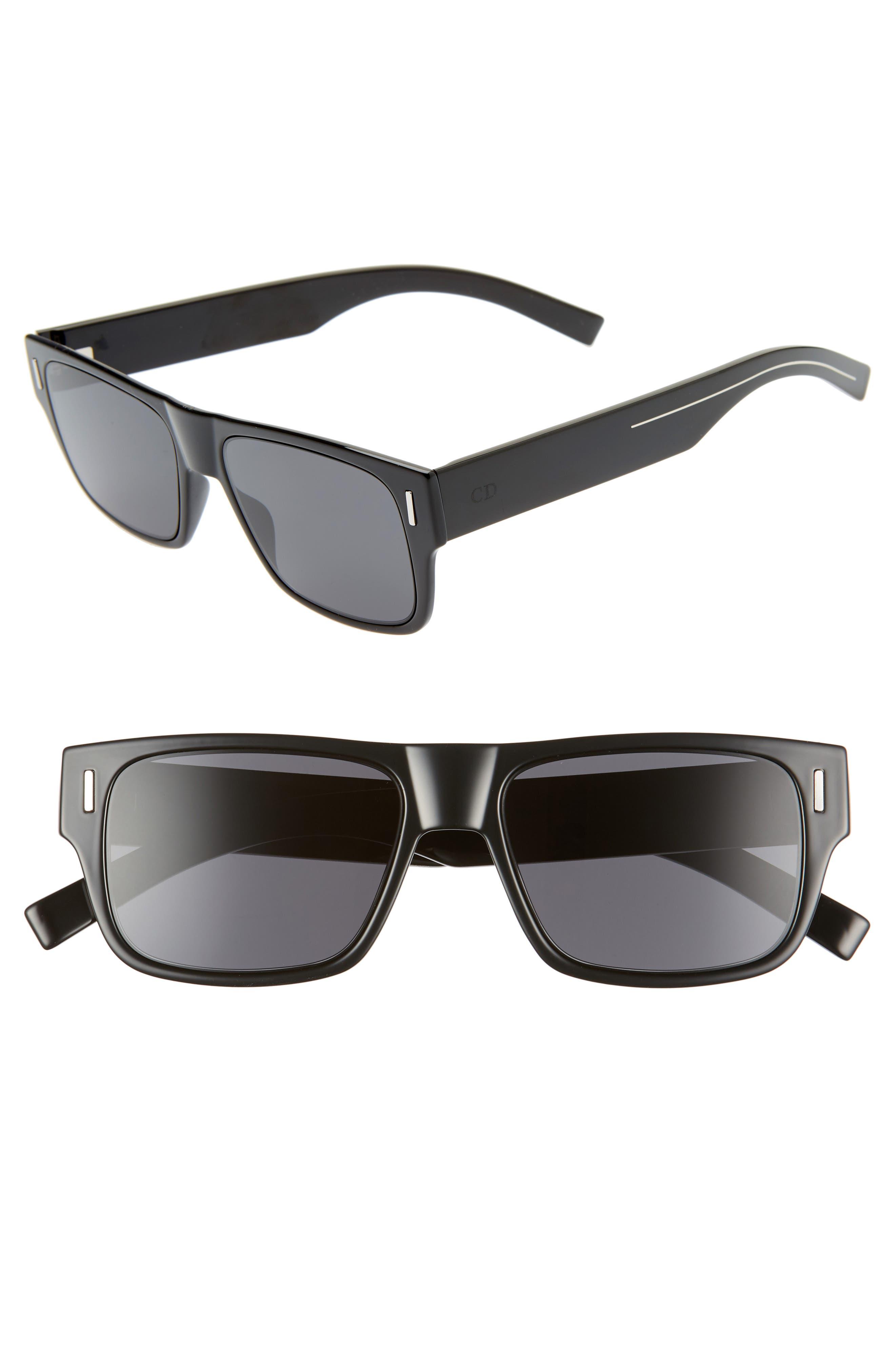 Dior Sunglasses Fraction4 54mm Rectangular Sunglasses