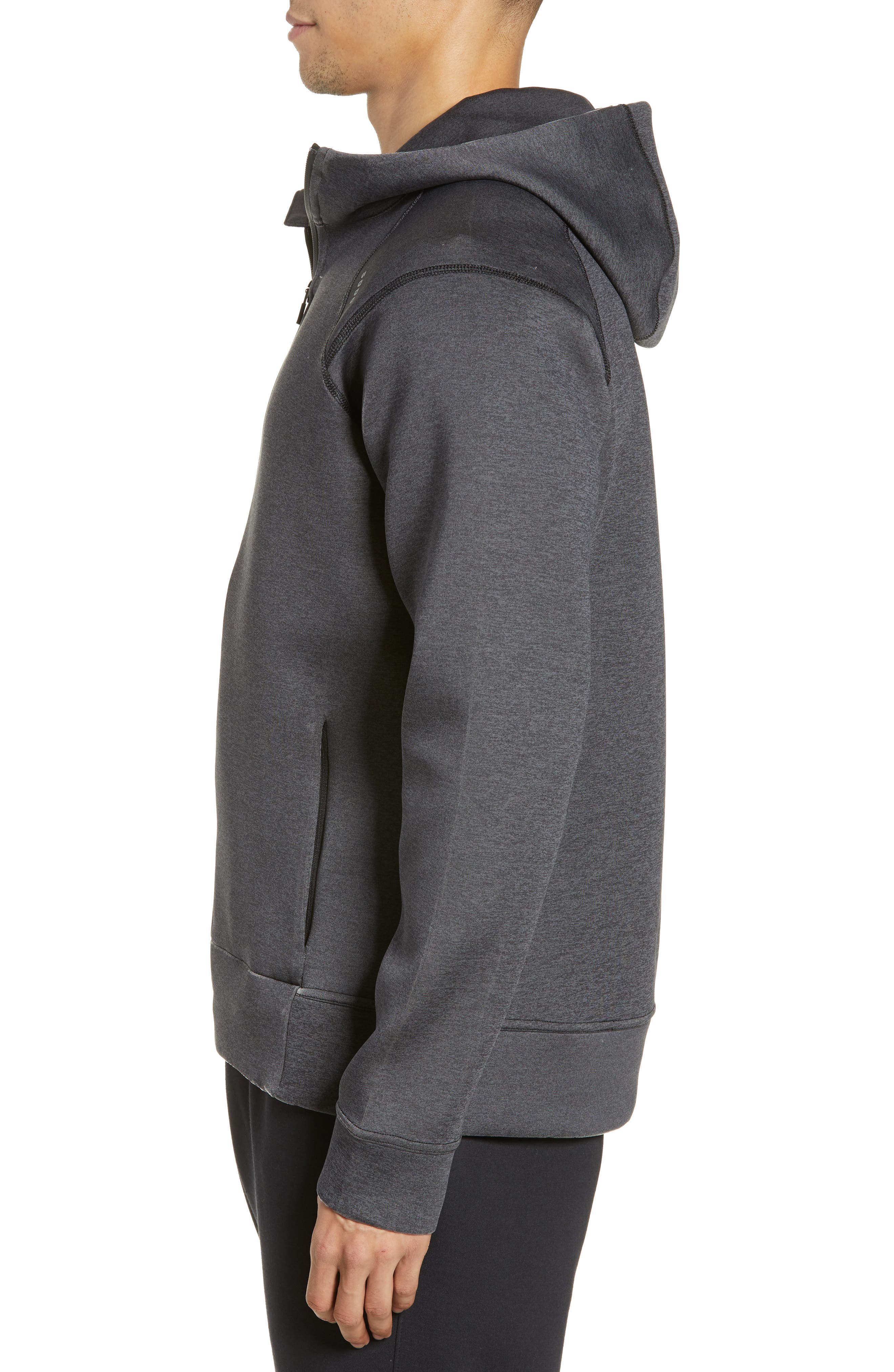 ,                             425 Tech Fleece Zip Hoodie,                             Alternate thumbnail 4, color,                             HEATHER CHARCOAL