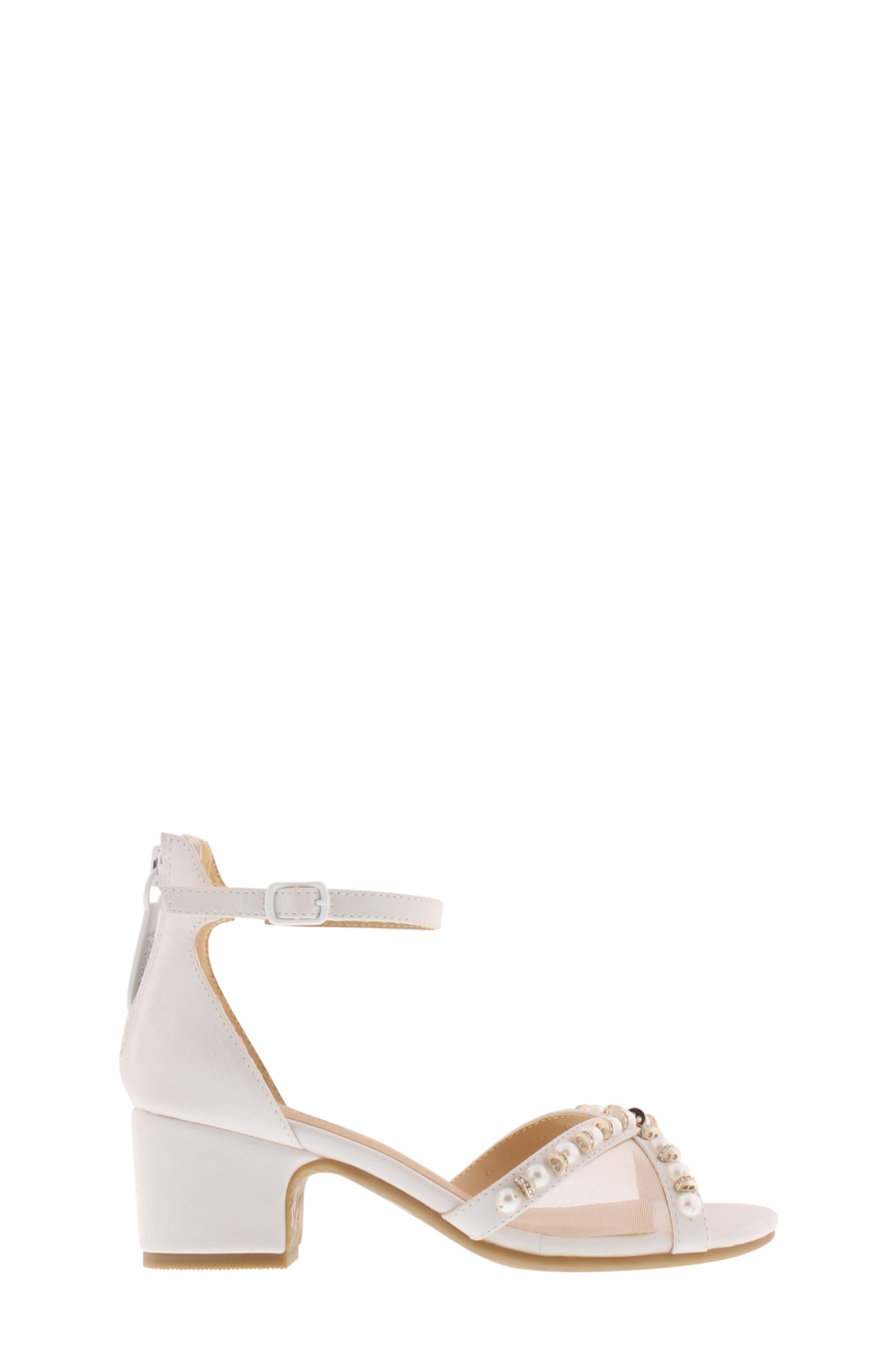 ,                             Badgley Mischka Pernia Emily Embellished Sandal,                             Alternate thumbnail 3, color,                             WHITE SHIMMER