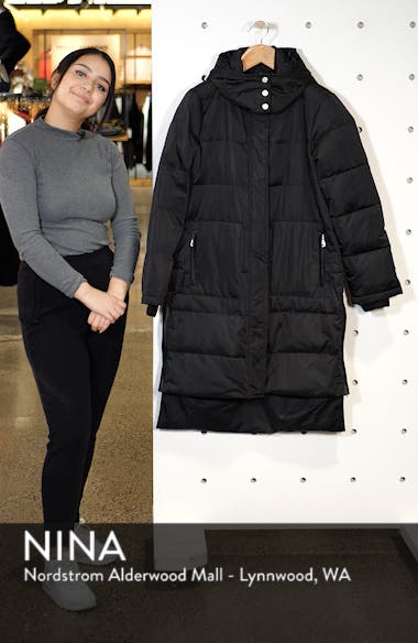 Insulated Step Hem Puffer Coat, sales video thumbnail