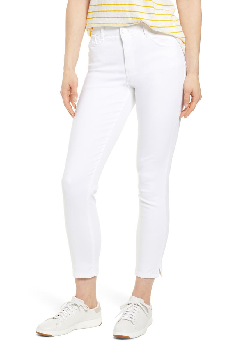 WIT & WISDOM Ab-Solution High Waist Ankle Skinny Pants, Main, color, OPTIC WHITE