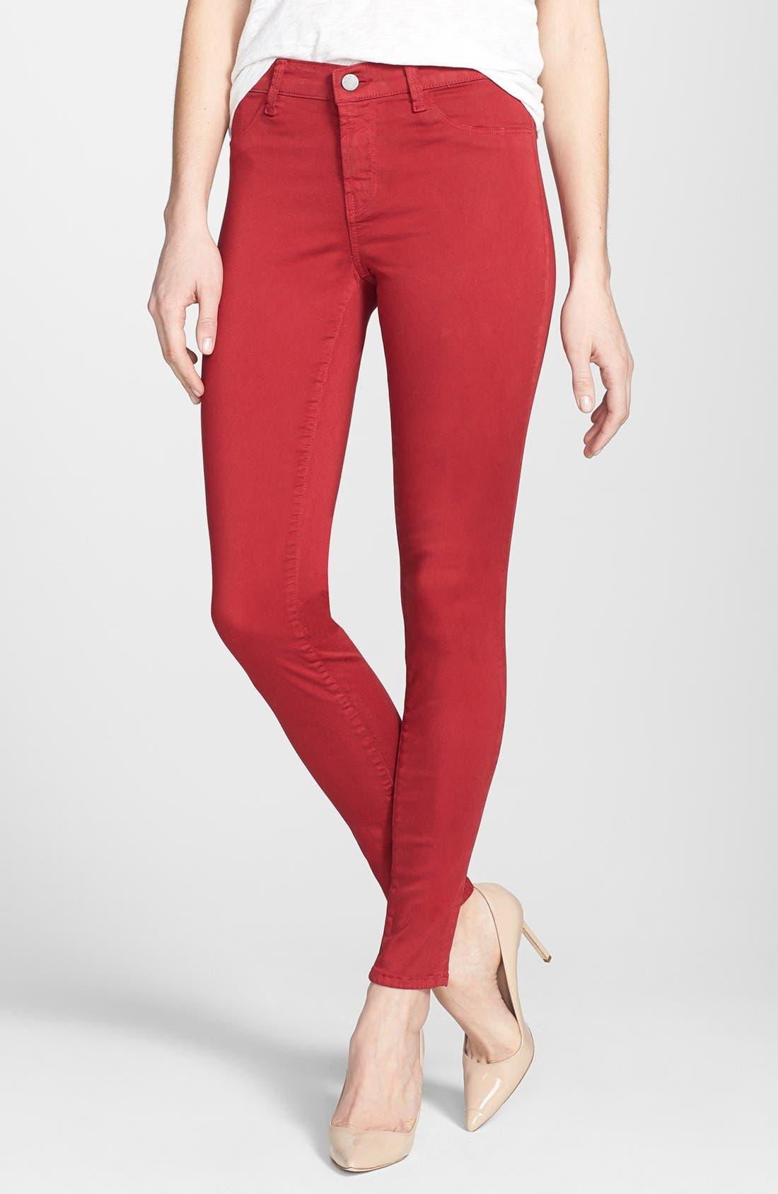 ,                             '485' Mid Rise Super Skinny Jeans,                             Alternate thumbnail 55, color,                             605