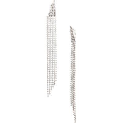 Saint Laurent Crystal Clip Drop Earrings