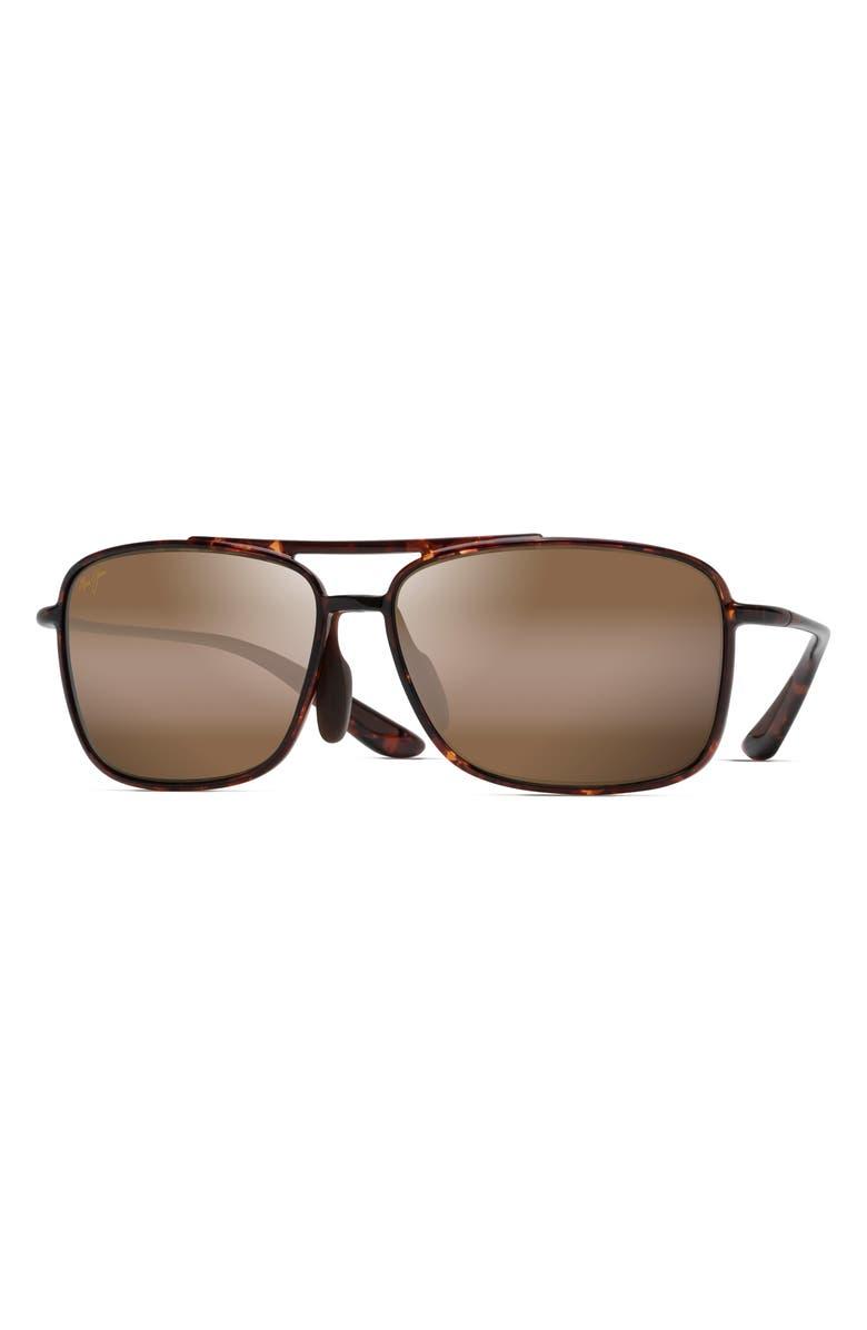 MAUI JIM Kaupo Gap 61mm PolarizedPlus2<sup>®</sup> Sunglasses, Main, color, TORTOISE