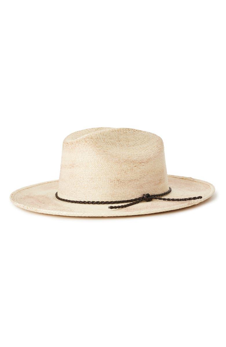 BRIXTON Vasquez Palm Cowboy Hat, Main, color, WHITE
