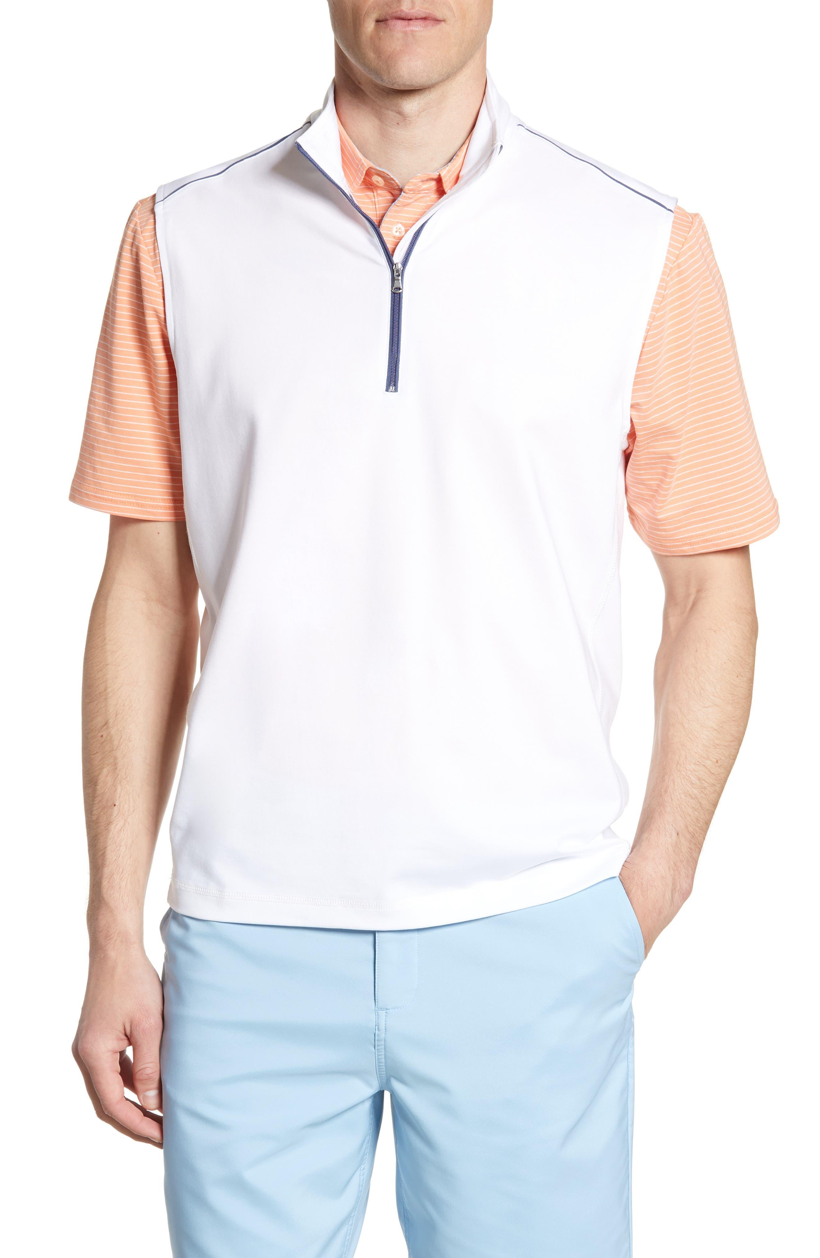 Johnnie-O Lammie Pullover Vest, White