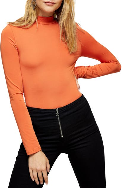 Topshop MOCK NECK BODYSUIT