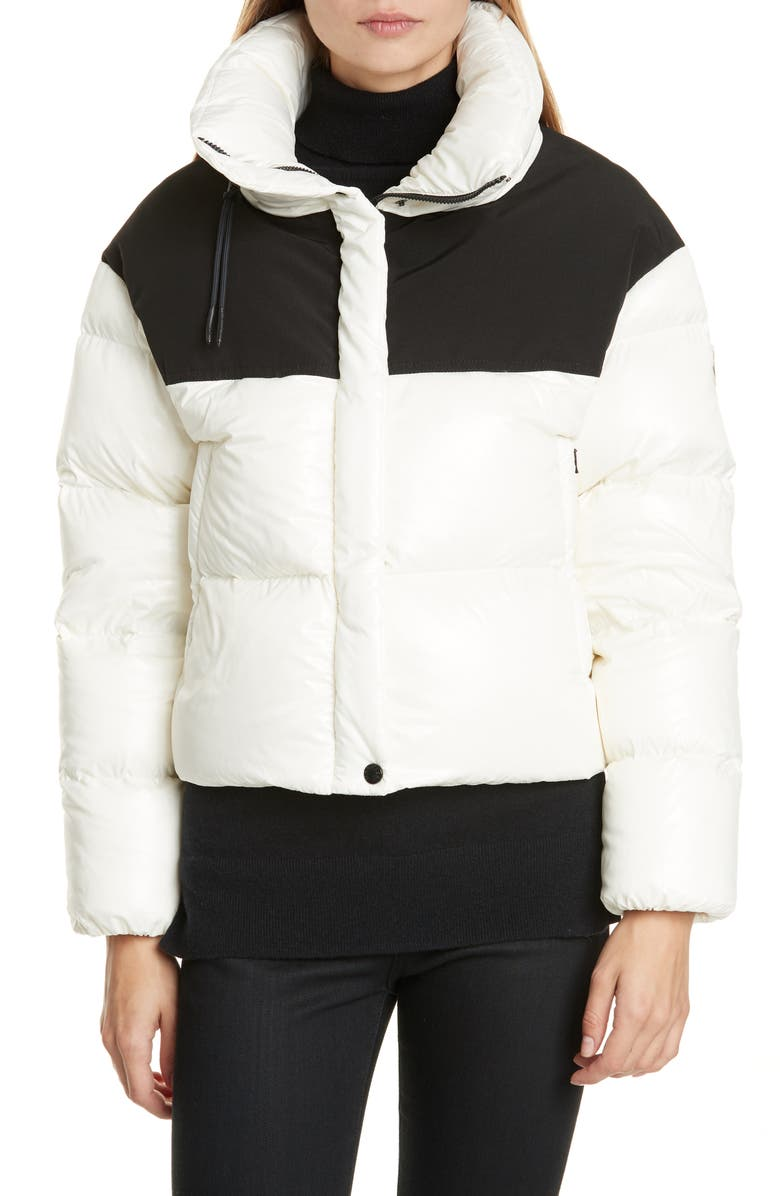 MONCLER Nil Colorblock Quilted Down Puffer Jacket, Main, color, 101