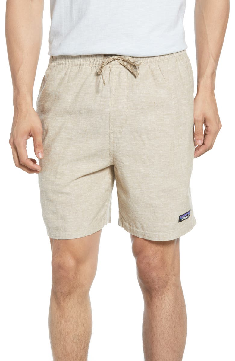 PATAGONIA Baggies Natural Hemp Blend Shorts, Main, color, CHAMBRAY/ MOJAVE KHAKI