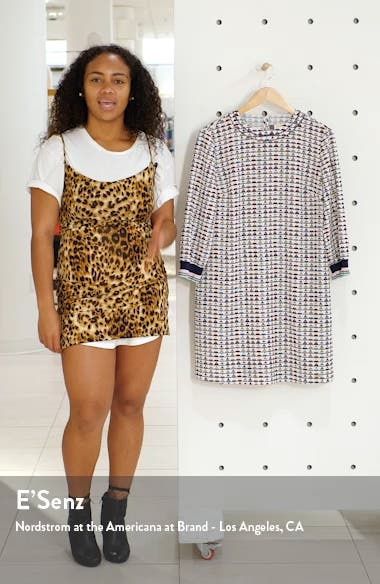 Colour by Numbers Karleen Triangle Print Shift Dress, sales video thumbnail