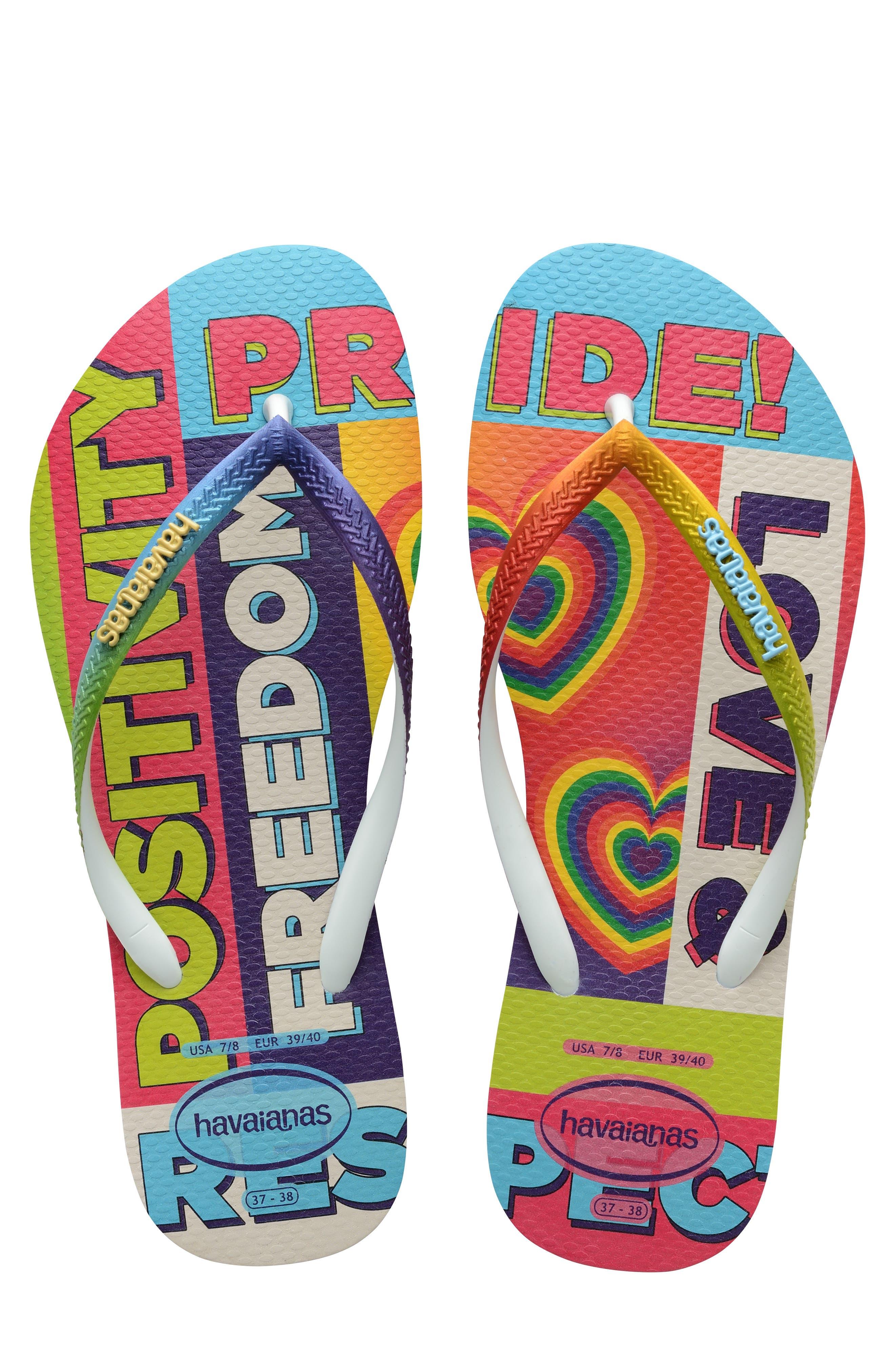 Slim Pride Rainbow Flip Flop