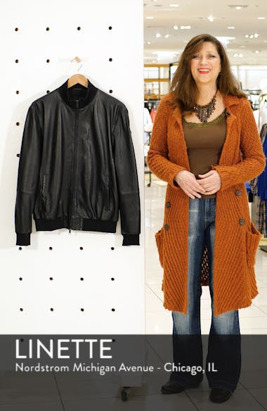 Leather Bomber Jacket, sales video thumbnail