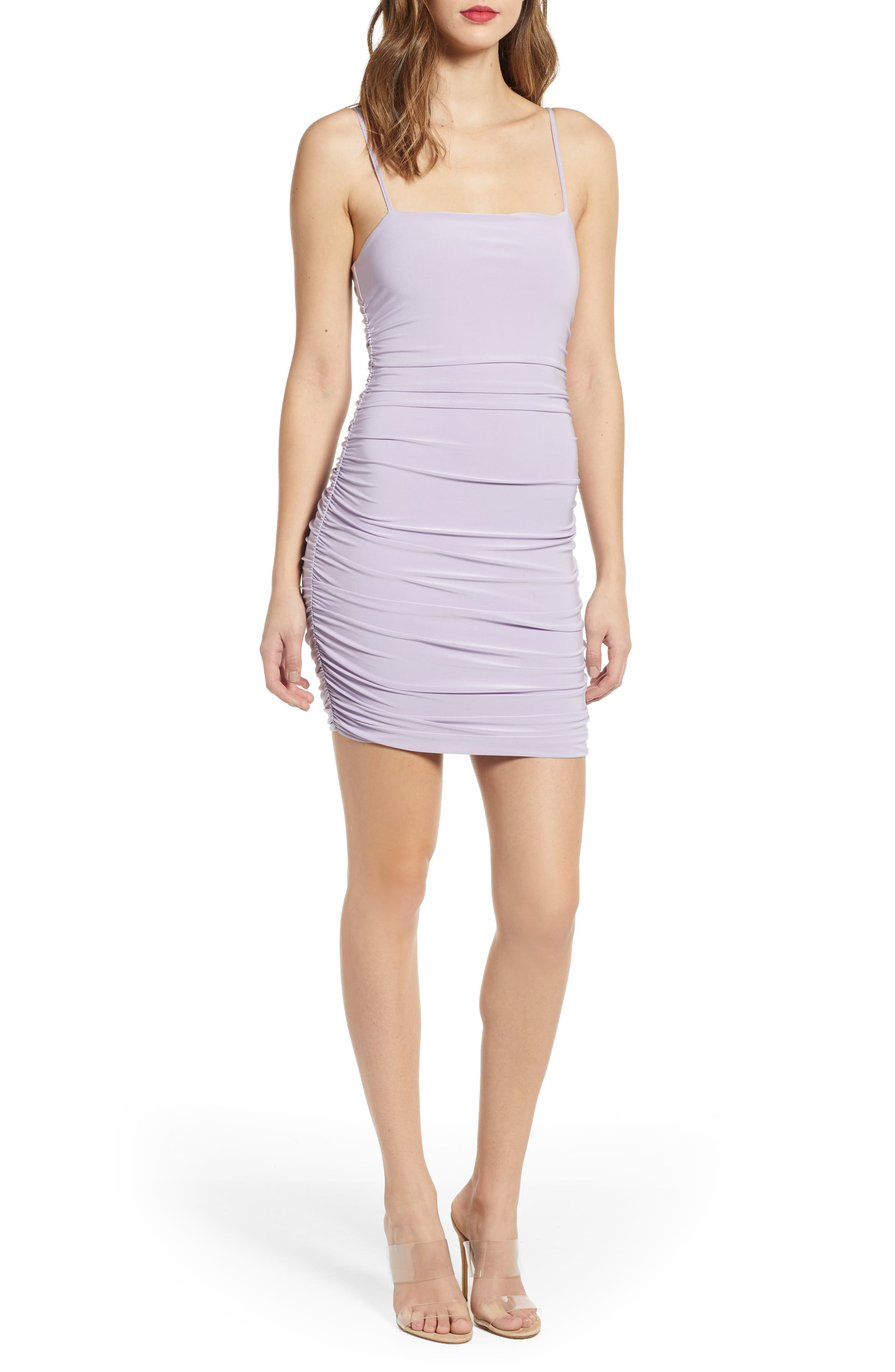 Tiger Mist Charlie Body-Con Minidress, Purple