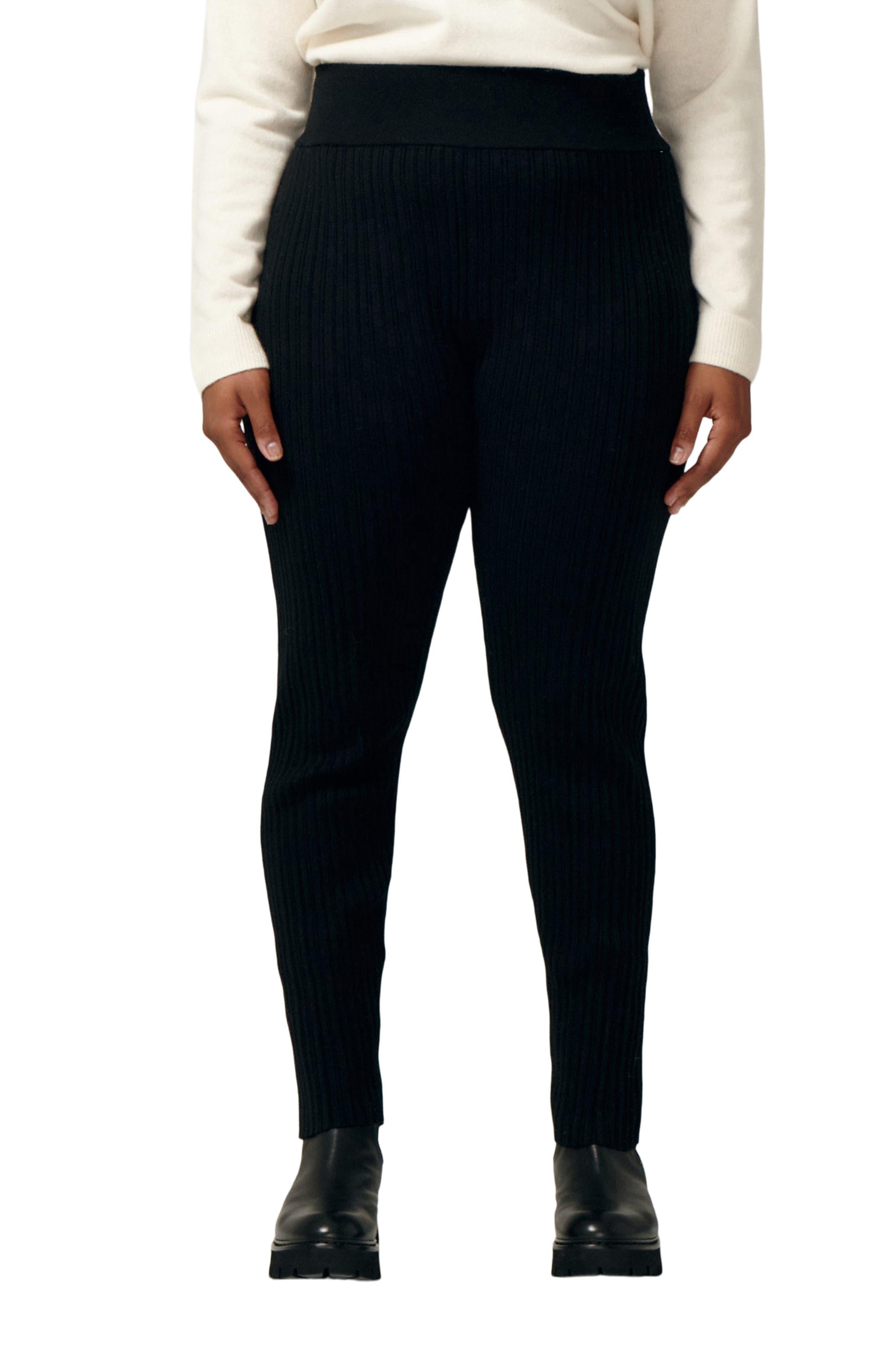 Icon Rib Merino Wool Blend Leggings