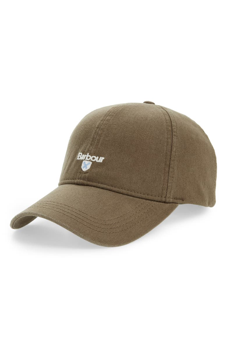 BARBOUR 'Cascade' Baseball Cap, Main, color, OLIVE