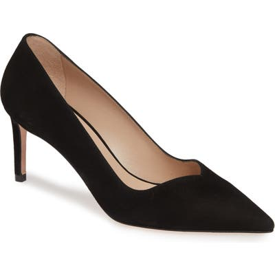 Stuart Weitzman Anny Pointy Toe Pump, Black