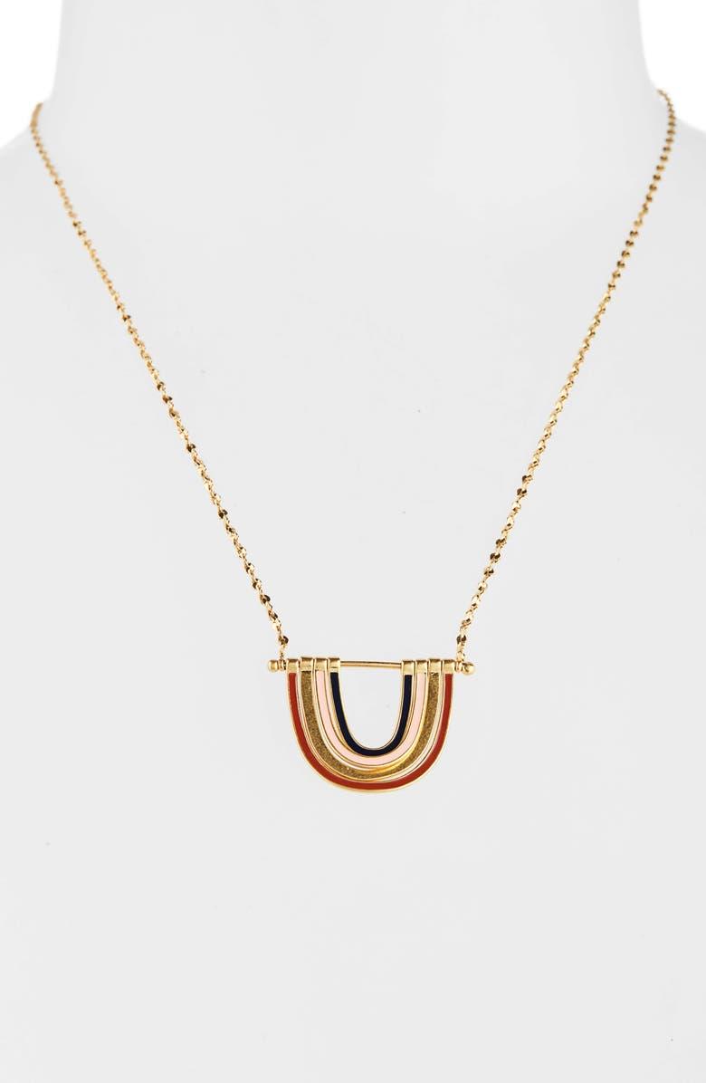 MADEWELL Enamel Rainbow Necklace, Main, color, 710
