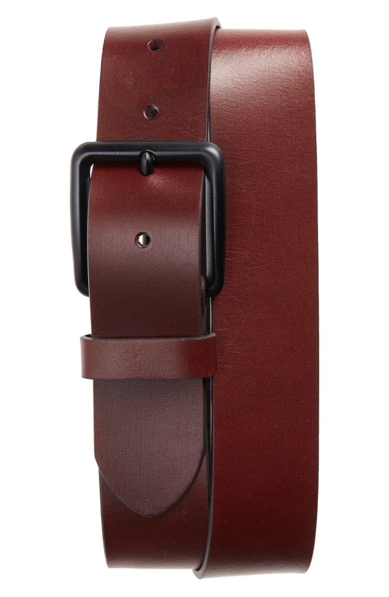 1901 Garrett Leather Belt, Main, color, BROWN EARTH