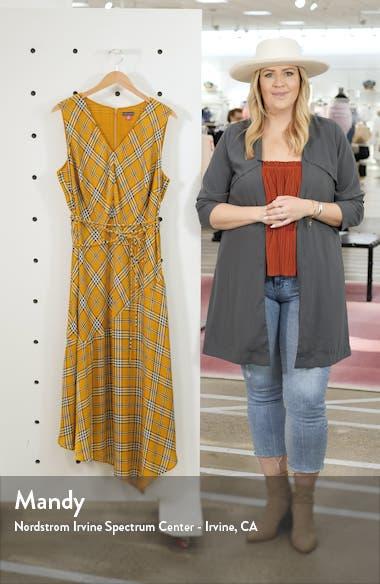 Highland Plaid Asymmetrical Sleeveless Dress, sales video thumbnail