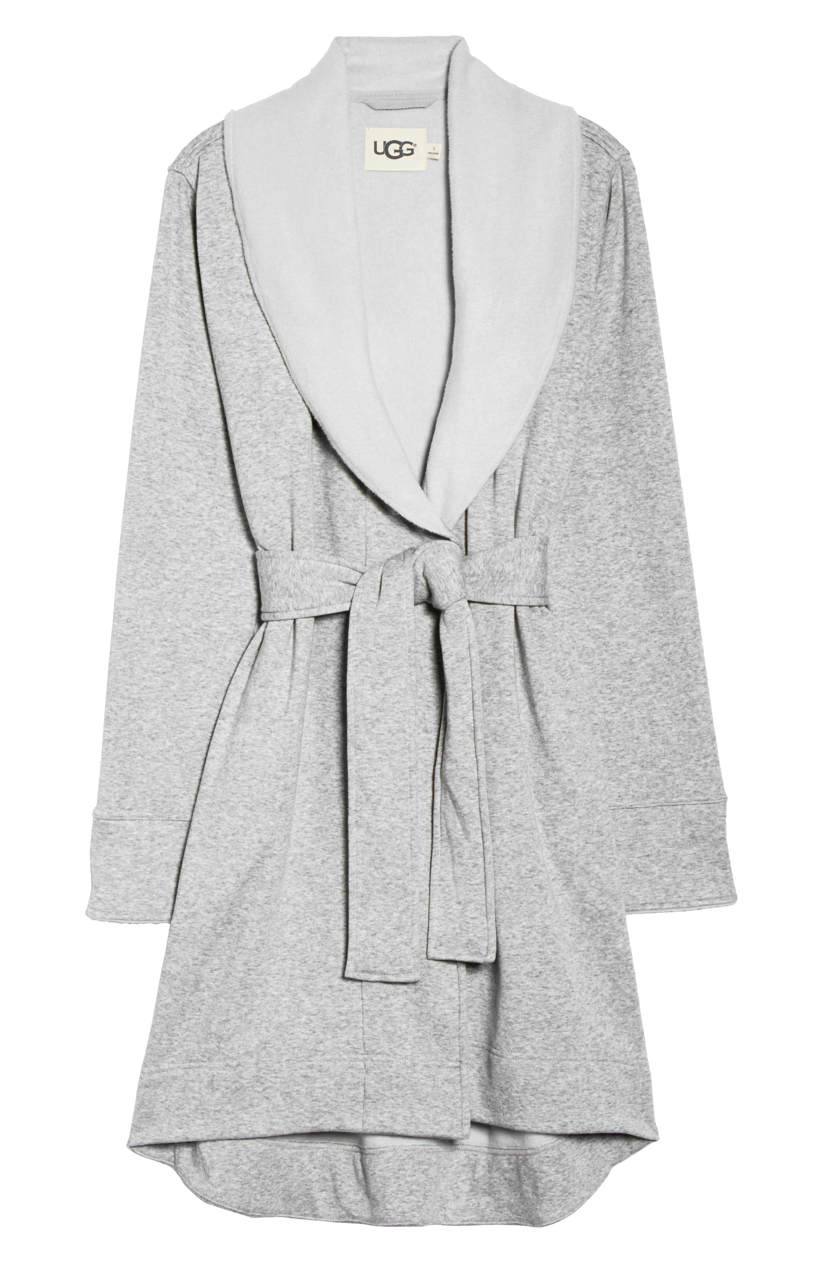 ,                             Blanche II Short Robe,                             Alternate thumbnail 6, color,                             SEAL HEATHER