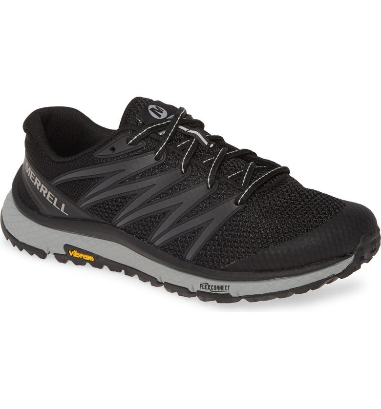 MERRELL Bare Access Trail Running Shoe, Main, color, BLACK FABRIC