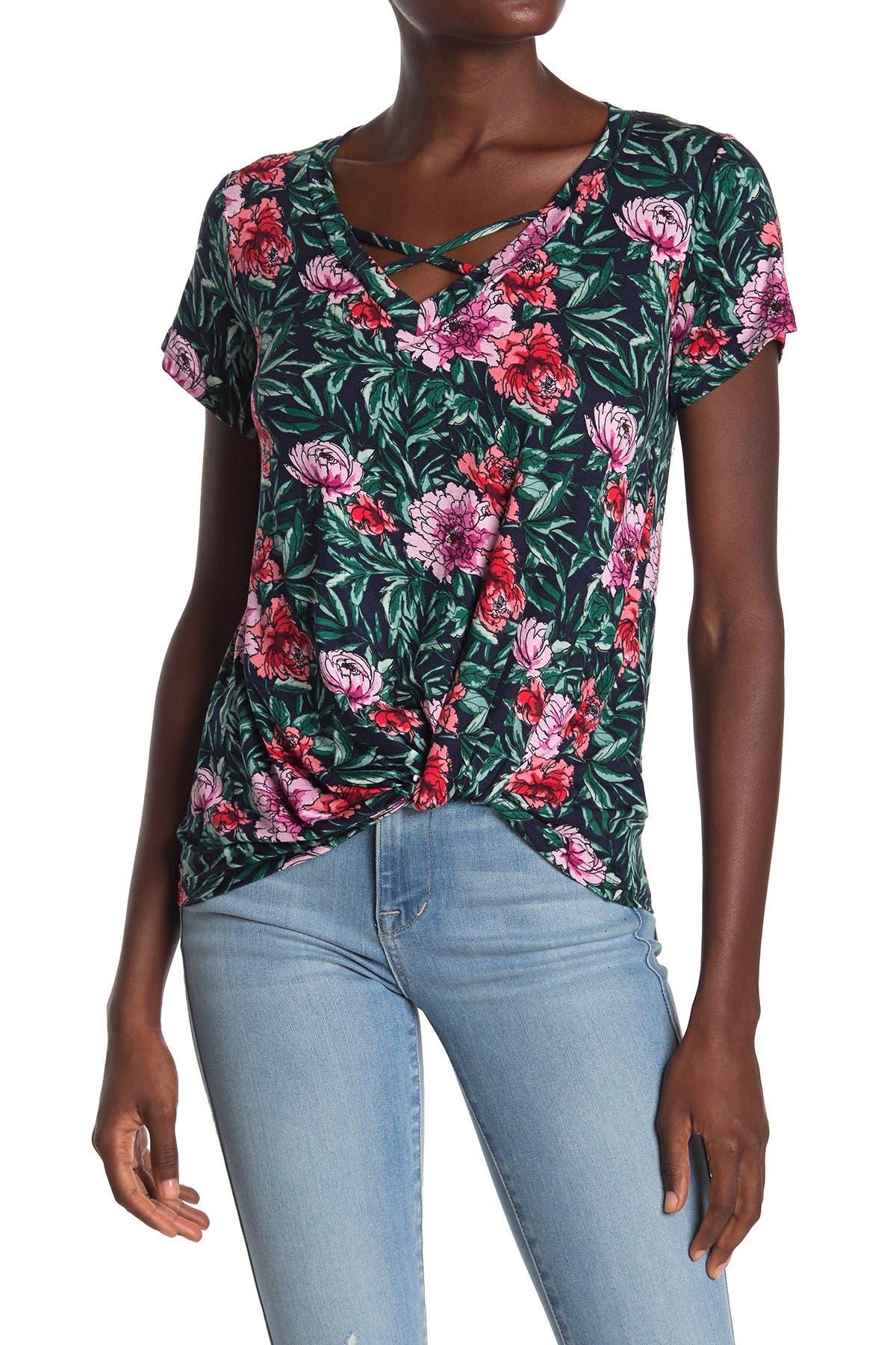 Bobeau Womens Martha Navy Off-The-Shoulder Pullover Top Shirt M BHFO 3721