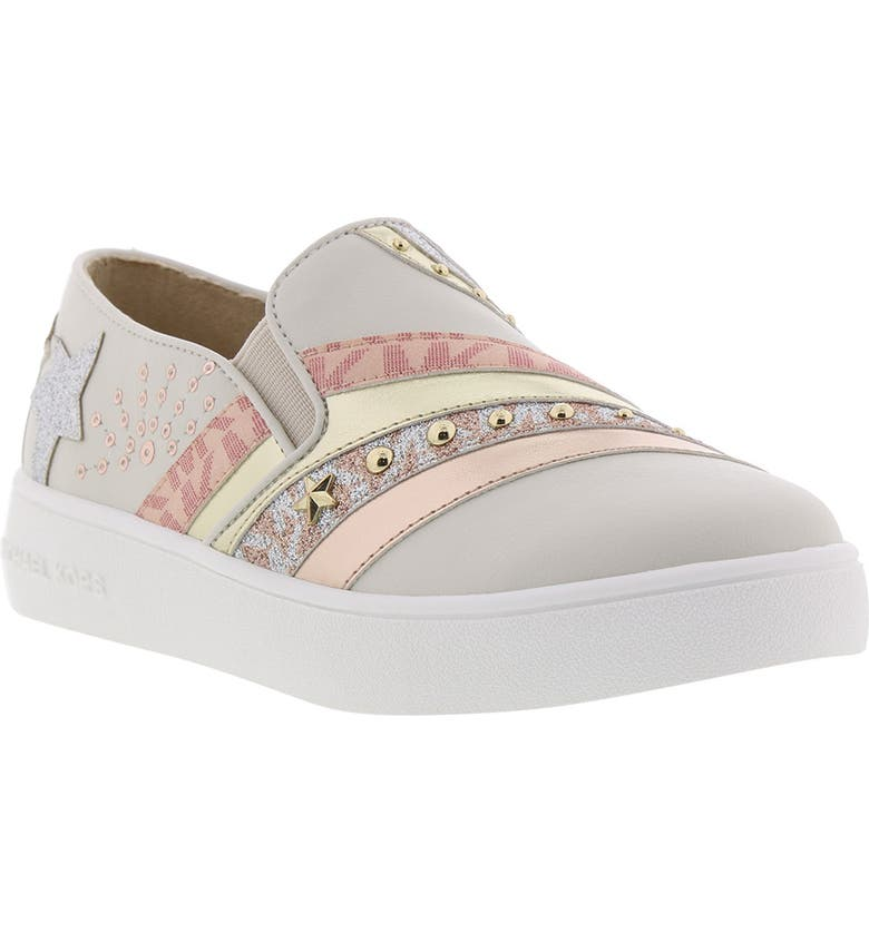MICHAEL MICHAEL KORS Jem Starlight Slip-On Sneaker, Main, color, 167