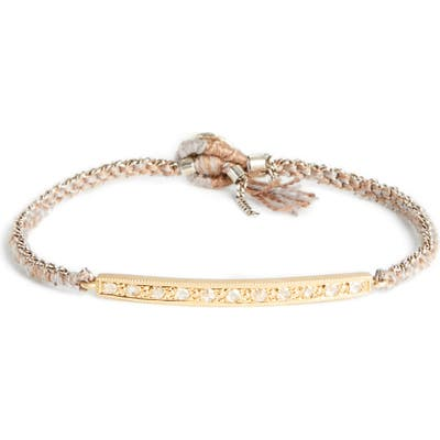 Brooke Gregson Diamond 11 Silk Silver Bracelet