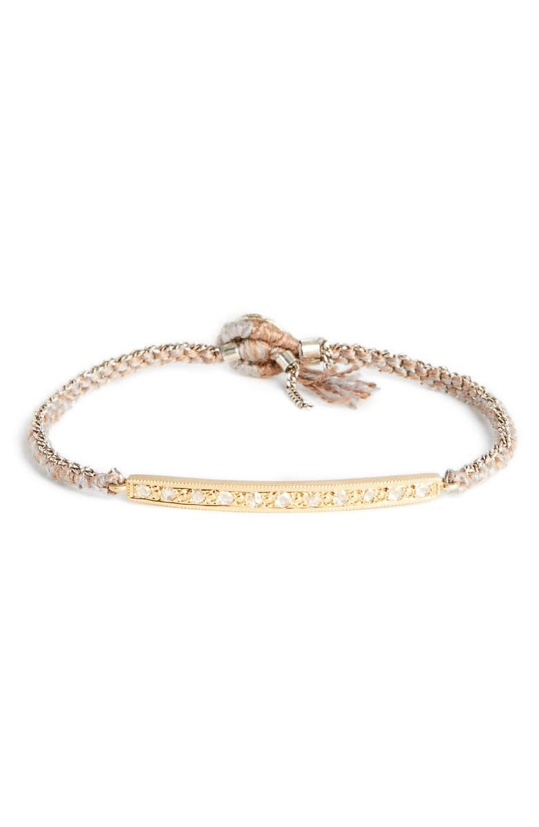 BROOKE GREGSON Diamond 11 Silk Silver Bracelet, Main, color, GOLD