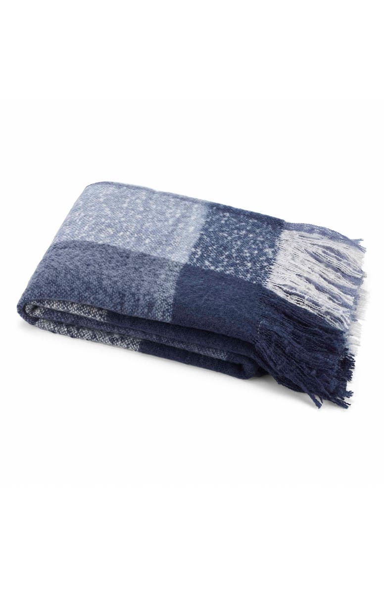 NAUTICA Plaid Throw, Main, color, BLUE