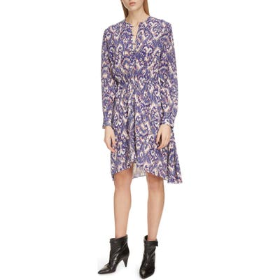 Isabel Marant Etoile Yandra Long Sleeve Silk Dress, 4 FR - Blue
