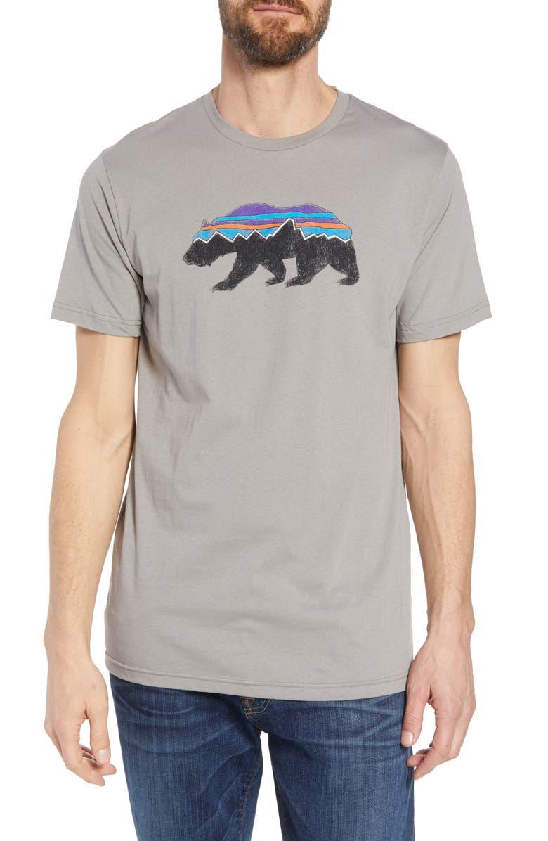 PATAGONIA Fitz Roy Bear Organic Cotton Crewneck T-Shirt, Main, color, FEATHER GREY