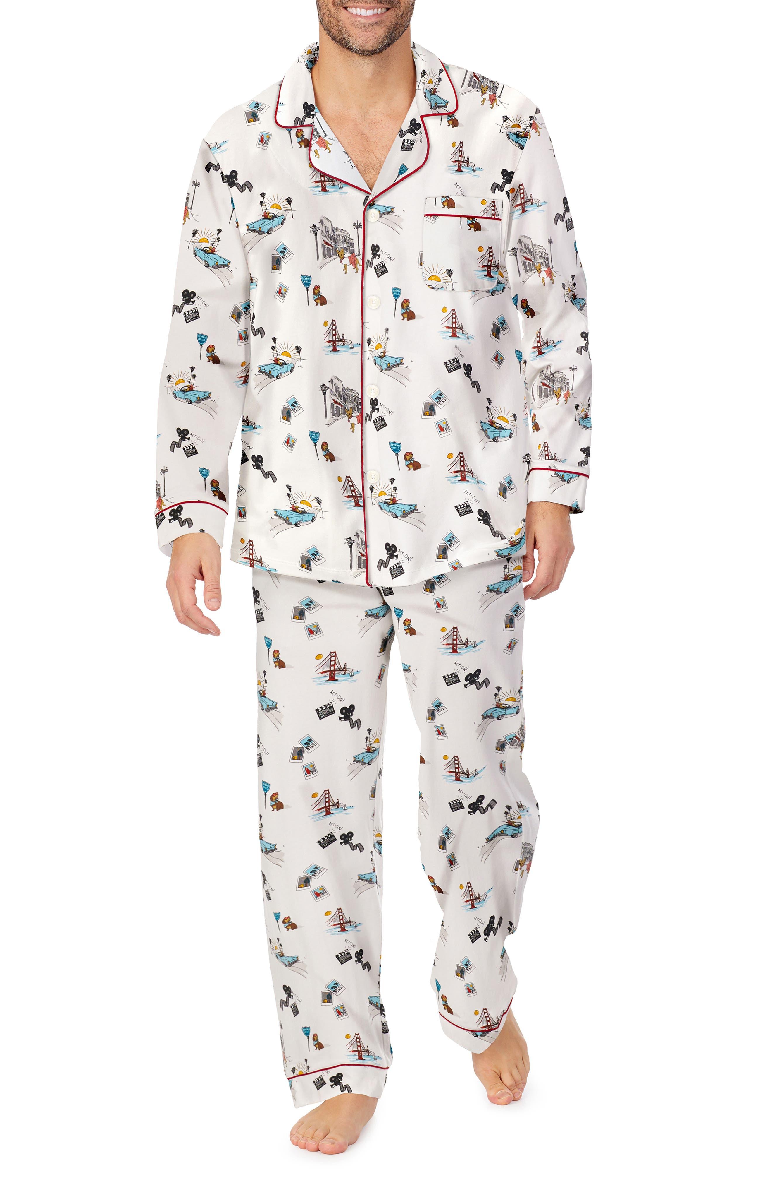California Print Stretch Pajamas