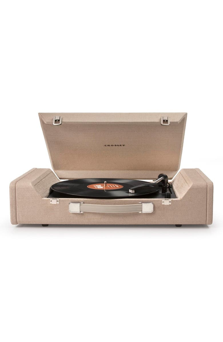 CROSLEY RADIO 'Nomad' Turntable, Main, color, BEIGE/ KHAKI
