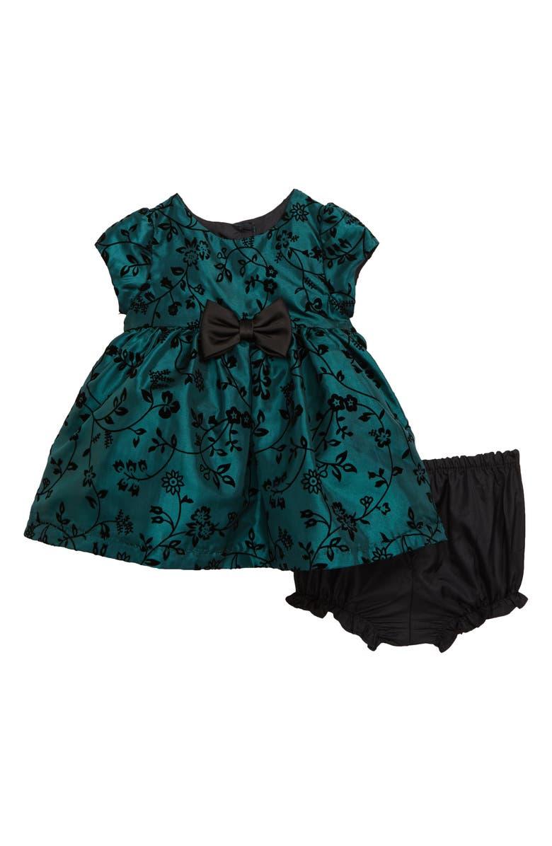 FRAIS Flock Taffeta Dress, Main, color, 301