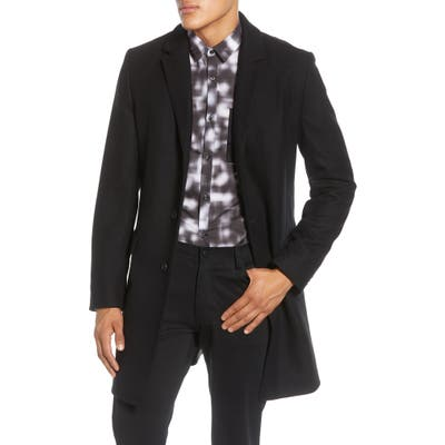 Hugo Migor Wool Blend Coat Black