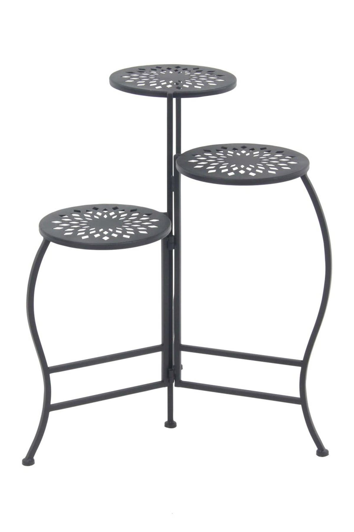 Image of Willow Row Black Folding Plant Stand