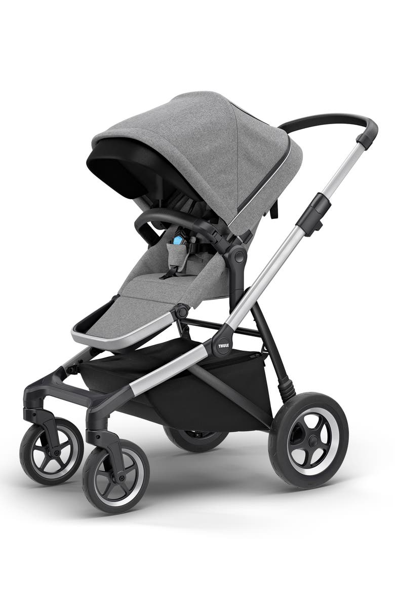 THULE 2019 Sleek City Stroller & Essentials Accessory Bundle, Main, color, GREY MELANGE