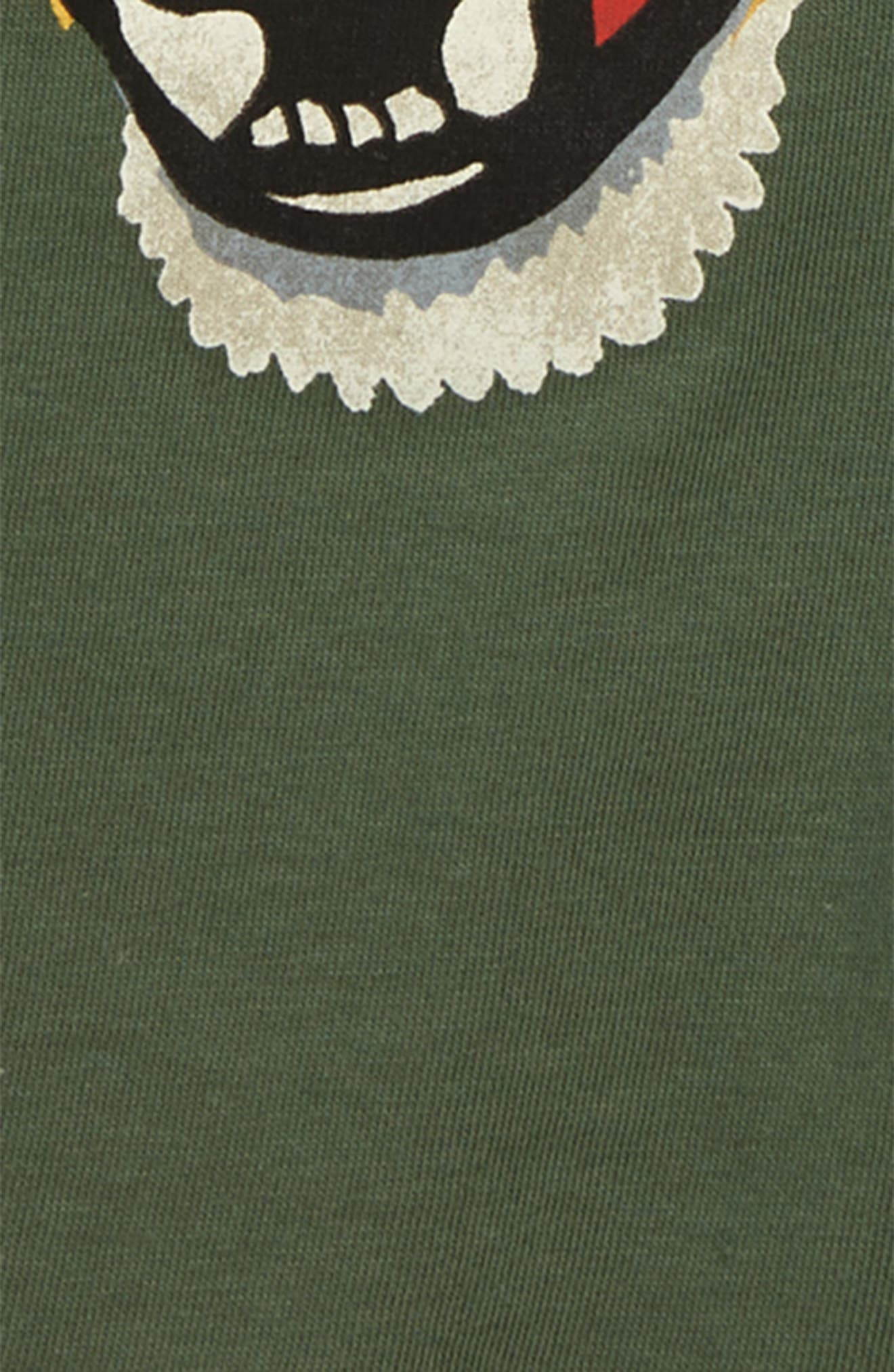 ,                             Graphic T-Shirt,                             Alternate thumbnail 3, color,                             VINTAGE DUSTY GREEN