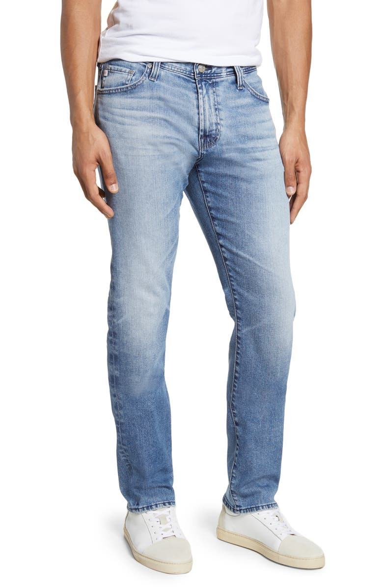 AG Everett Slim Straight Leg Jeans, Main, color, 19 YEARS REGENT