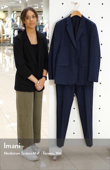 Chambers Kardova Regular Fit Plaid Wool Blazer, sales video thumbnail