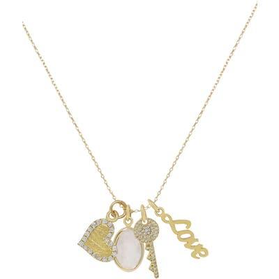 Ettika Love Charms Pendant Necklace