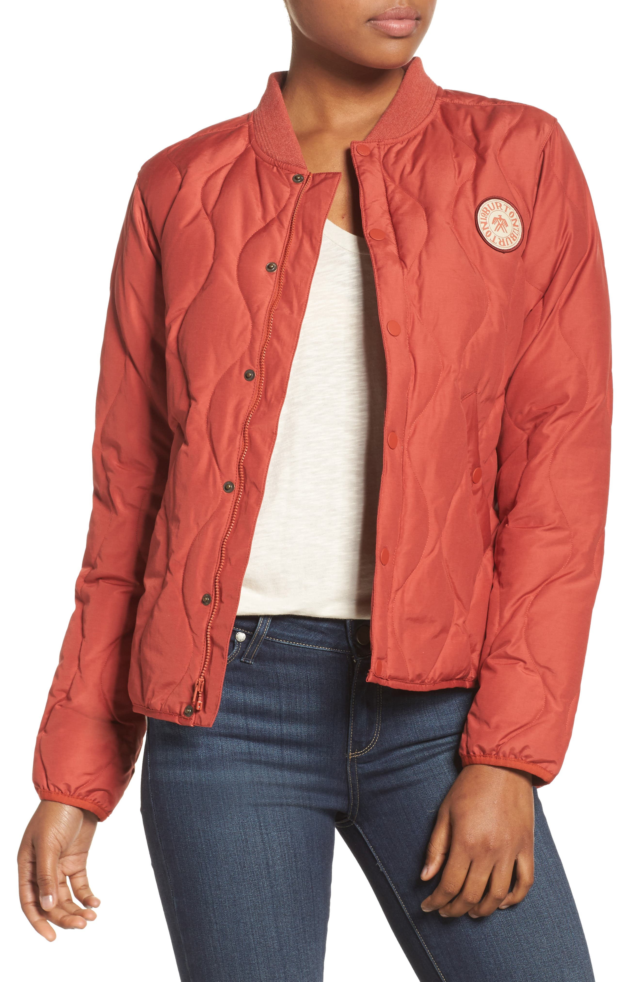 Burton Kiley Quilted Down Insulator Jacket, Red