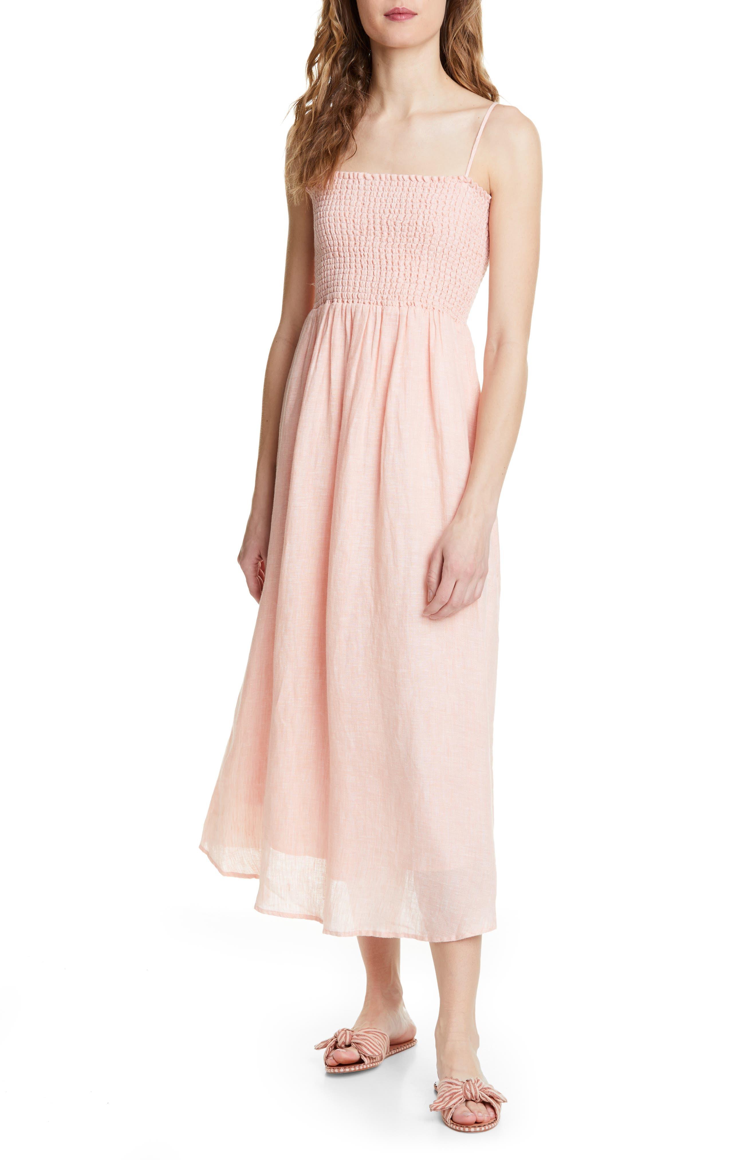 Joie Tilsa Linen Maxi Sundress, Pink