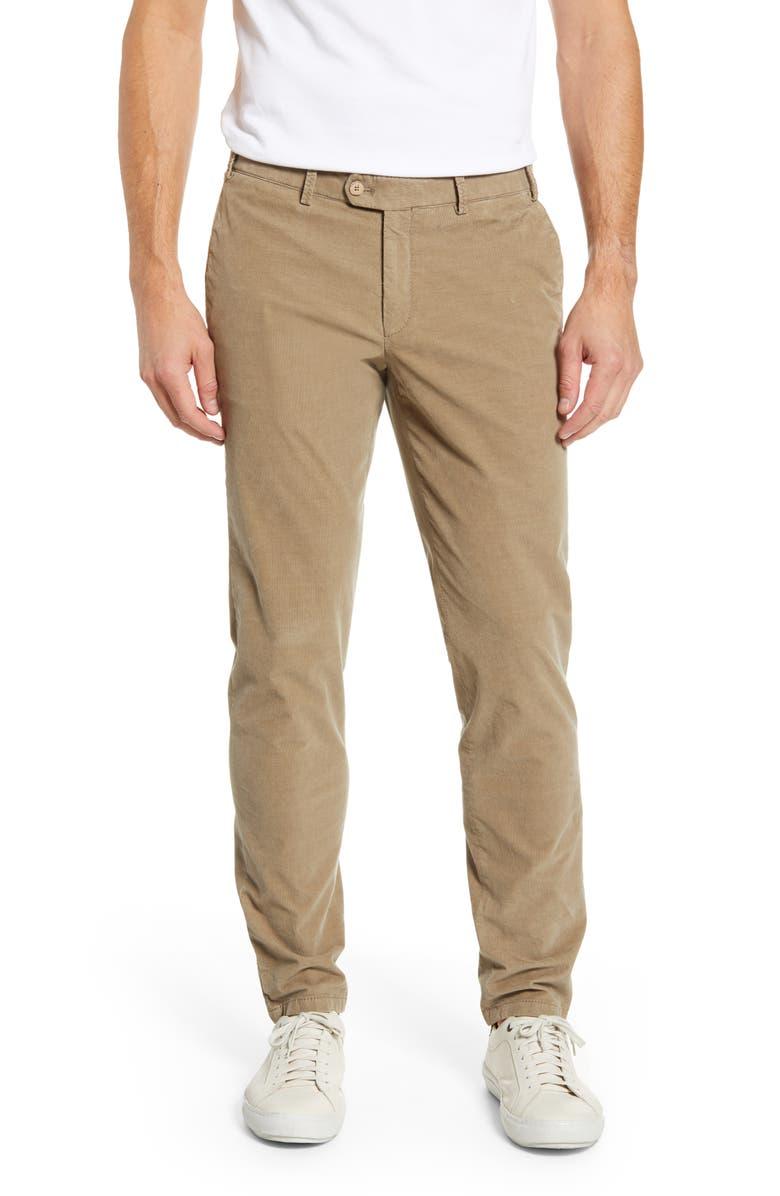 HILTL Tierre Slim Fit Corduroy Pants, Main, color, SAGE