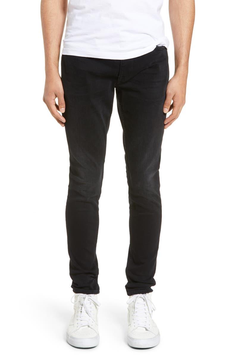 HUDSON JEANS Zack Skinny Fit Jeans, Main, color, 002