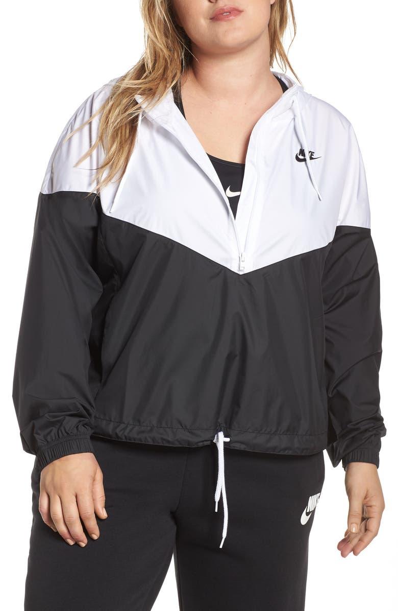 NIKE Sportswear Heritage Windrunner Half Zip Pullover, Main, color, BLACK/ WHITE/ BLACK