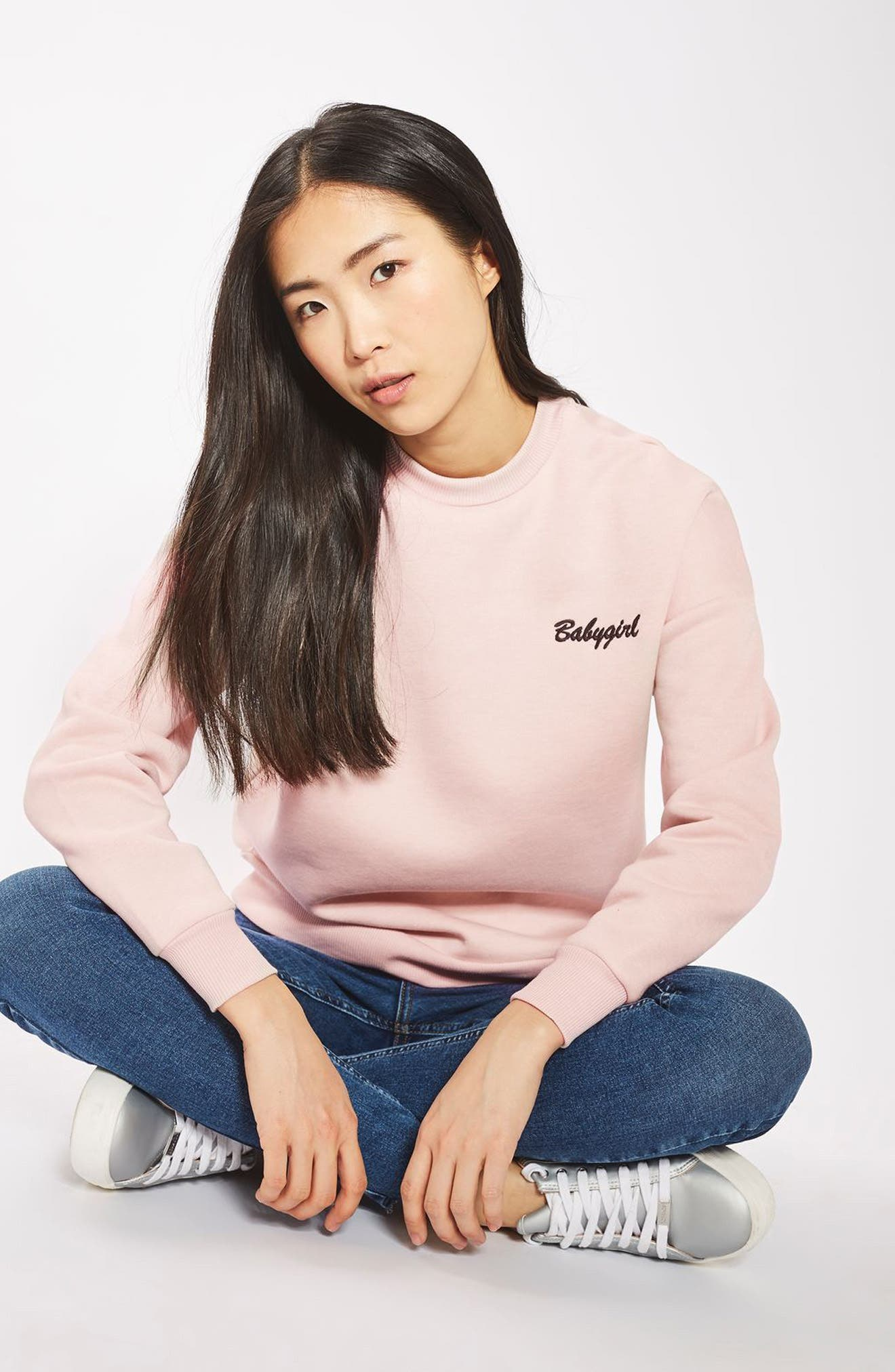 ,                             by Tee & Cake Babygirl Sweatshirt,                             Alternate thumbnail 4, color,                             650